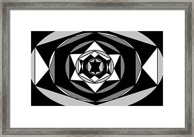'geometric 1' Framed Print