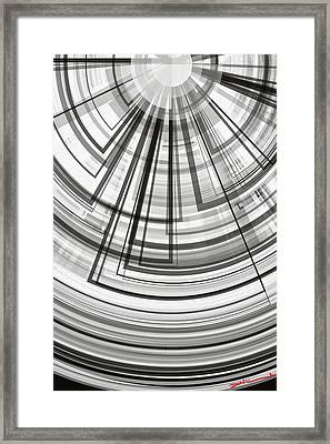 Geometric Abstract No.4 Framed Print by Donald Lawrence