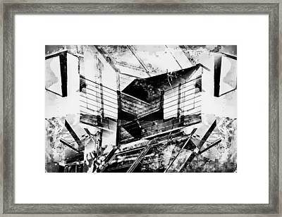 Geometric Abstract Framed Print by Tom Gowanlock