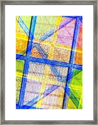 Geometric And Colorful  Framed Print