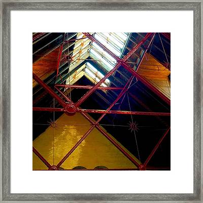 Geometric And Suns  Framed Print