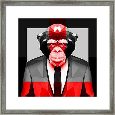 Geometric Ape Framed Print