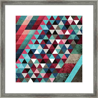Geometric Candy Framed Print by Francisco Valle