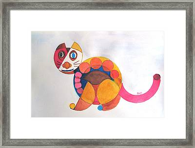 Geometric Cat Framed Print