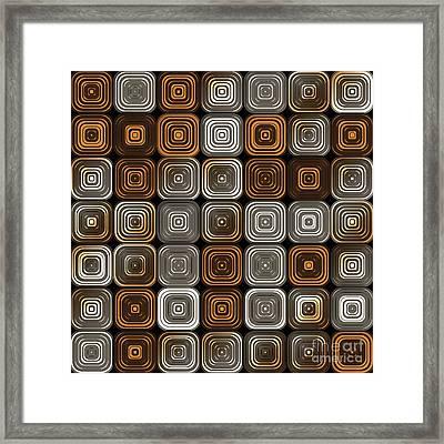 Geometric Chocolate Pattern Framed Print