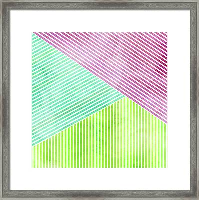 Framed Print featuring the mixed media Geometric Color Study by Kristian Gallagher