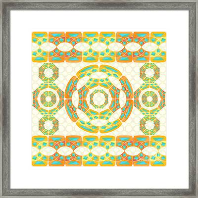 Geometric Composition Framed Print by Gaspar Avila