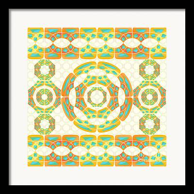 Autumn Colored Quilts Framed Prints