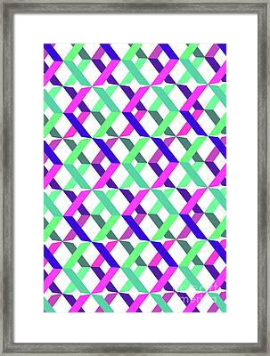 Geometric Crosses Framed Print