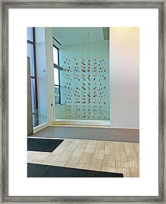 Geometric Curtain Hanging Mobile Framed Print