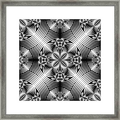 Geometric Damask Framed Print by Gaspar Avila