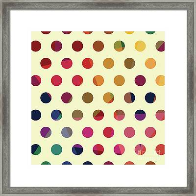 Framed Print featuring the mixed media Geometric Dots by Carla Bank