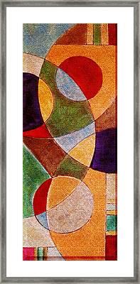 Geometric Framed Print by Florentina Maria Popescu