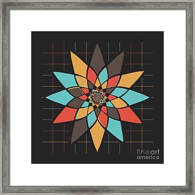 Geometric Flower Framed Print