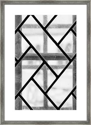 Geometric Glasswork Framed Print