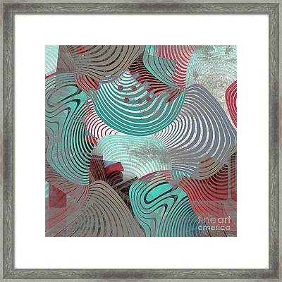 Geometric Gymnastic - 1010t Framed Print by Variance Collections