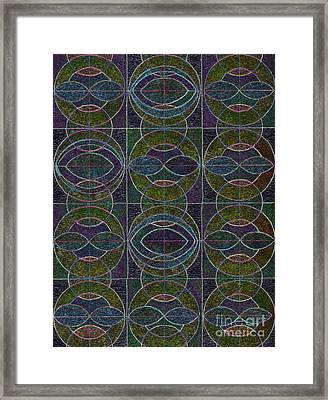 Geometric Harmony Framed Print by Norma Appleton