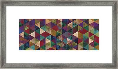Geometric Jupiter Panoramic Framed Print by Francisco Valle