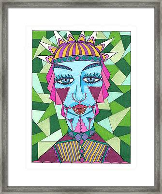 Geometric King Framed Print