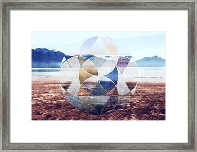 Geometric Landscape Framed Print by Nannie Van der Wal