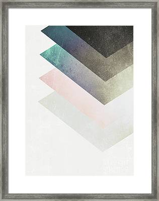 Geometric Layers Framed Print