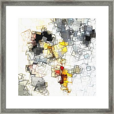 Geometric Minimalist And Abstract Art Framed Print