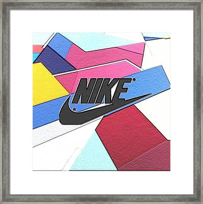 Geometric Nike Cover Framed Print