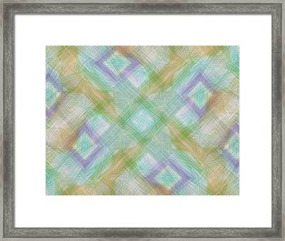 Geometric Pattern Framed Print by Gina Lee Manley