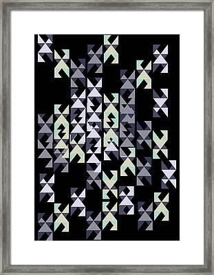 geometric pattern I Framed Print by Cindy Shim