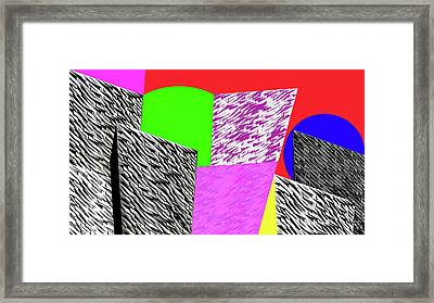 Geometric Shapes 1 Framed Print by Bruce Iorio