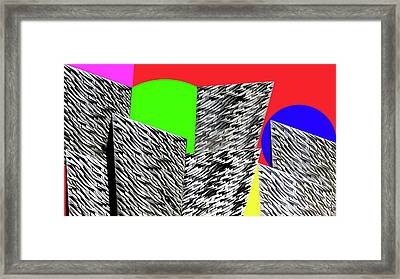 Geometric Shapes 3 Framed Print by Bruce Iorio