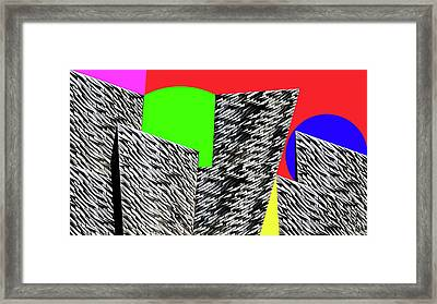 Geometric Shapes 4 Framed Print by Bruce Iorio
