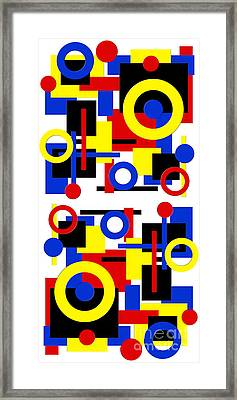 Geometric Shapes Abstract V 1 Framed Print by Andee Design