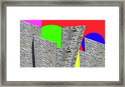 Geometric Shapes Framed Print by Bruce Iorio
