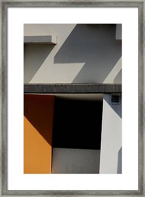 Geometric Shadows Framed Print