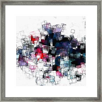 Geometric Skyline / Cityscape Abstract Art Framed Print