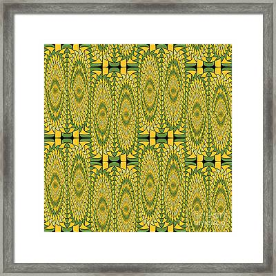 Geometric Sunflowers Framed Print