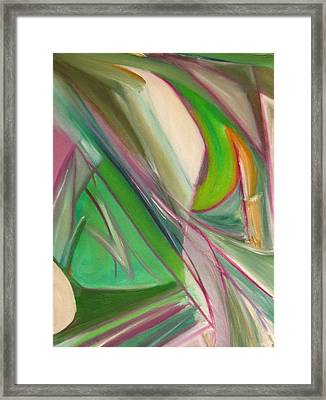 Framed Print featuring the painting Geometric Tension Series  II by Patricia Cleasby