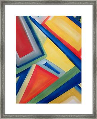 Framed Print featuring the painting Geometric Tension Series IIi by Patricia Cleasby