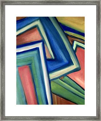 Framed Print featuring the painting Geometric Tension Series Iv by Patricia Cleasby