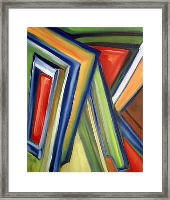 Framed Print featuring the painting Geometric Tension Series V by Patricia Cleasby