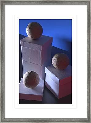 Geometric Triad Framed Print