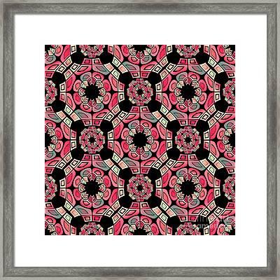 Geometric Tribal Pattern Framed Print