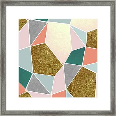 Geometric Framed Print by Uma Gokhale