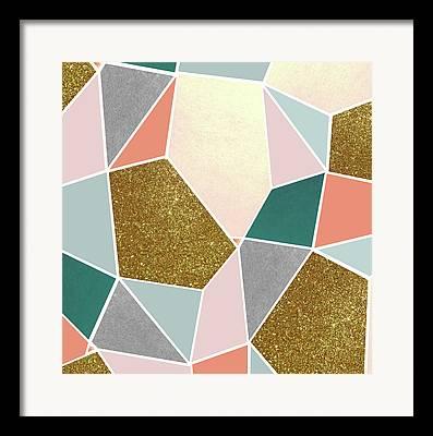Sparkling Rose Digital Art Framed Prints