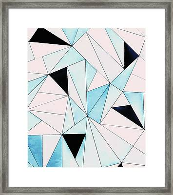 Geometric Washout Framed Print by Uma Gokhale