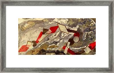 Geometrical Rope Framed Print by Evguenia Men