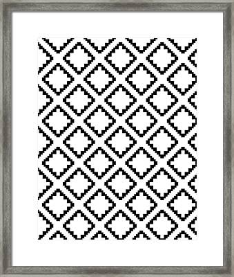 Geometricsquaresdiamondpattern Framed Print by Rachel Follett
