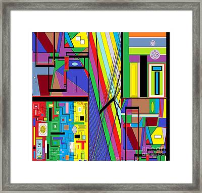 Geometry Abstract Framed Print by Eloise Schneider