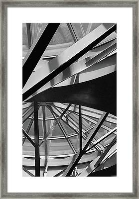 Geometry In Black And White Framed Print by Winnie Chrzanowski